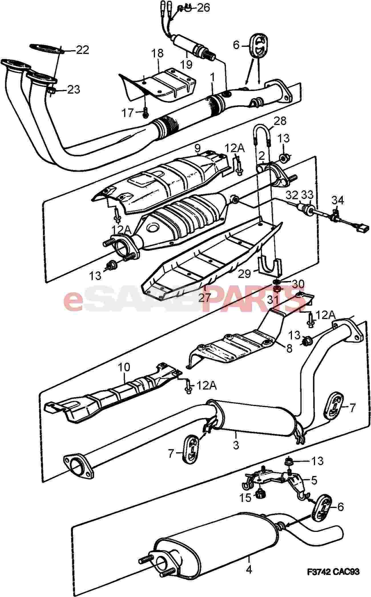 hight resolution of saab exhaust diagram wiring diagram go saab 9 5 towbar wiring diagram saab 95 wiring diagram