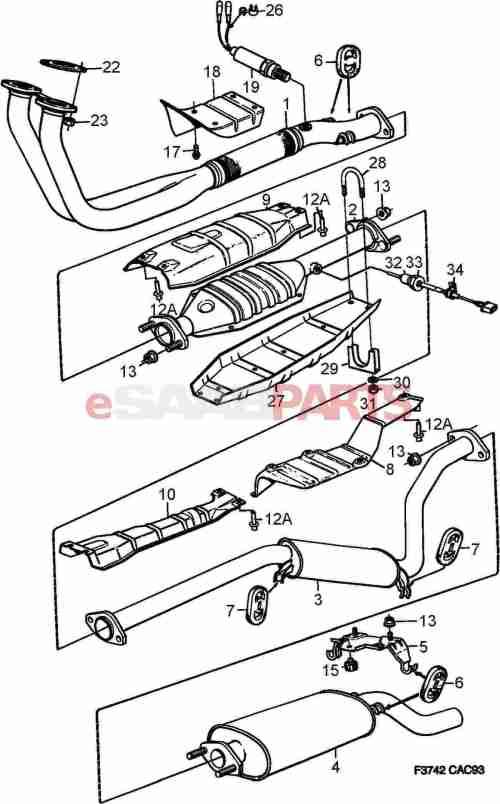 small resolution of saab exhaust diagram wiring diagram go saab 9 5 towbar wiring diagram saab 95 wiring diagram