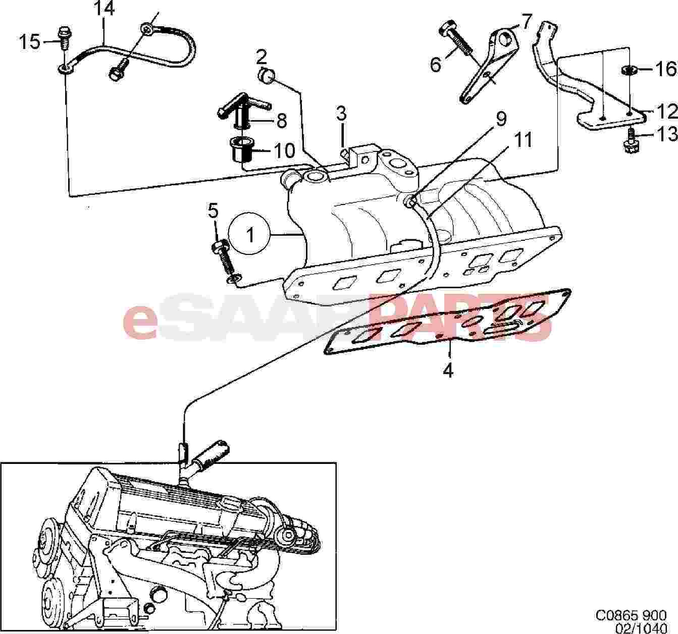 2003 Saab 9 3 Convertible Parts Top Diagram
