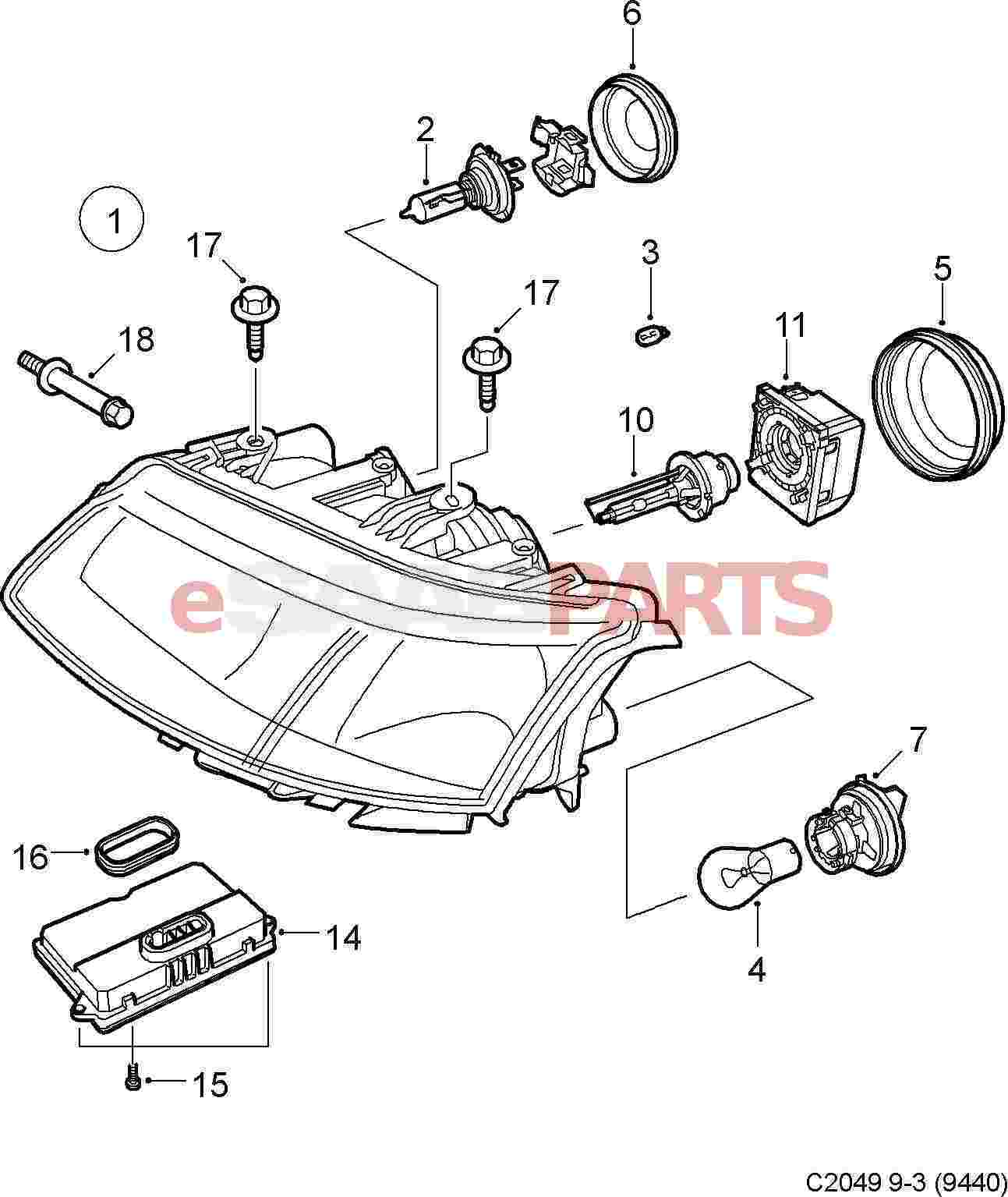 C5 Corvette Headlight Diagram