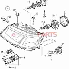 Car Headlight Bulb Diagram Fat Structure 93169007 Saab Genuine Parts From Esaabparts