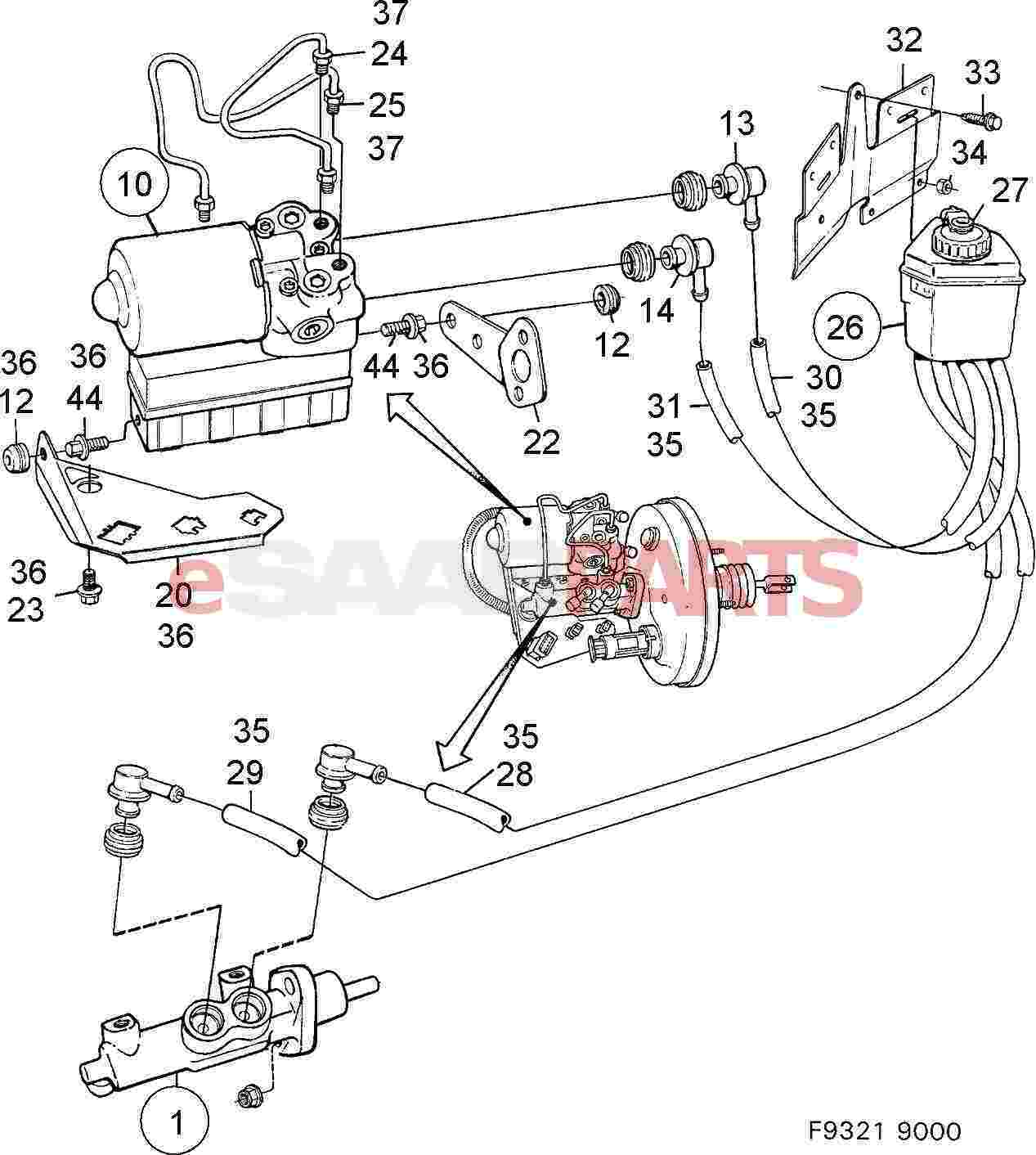 ABS Hydraulic Aggregate FOR SAAB 9000 CS EP 1994