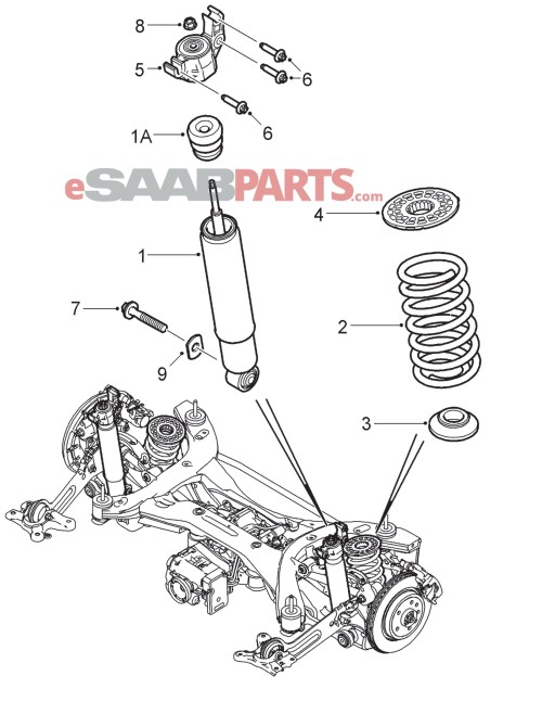 small resolution of esaabparts com saab 9 3 9440 suspension wheels parts rear suspension rear suspension xwd