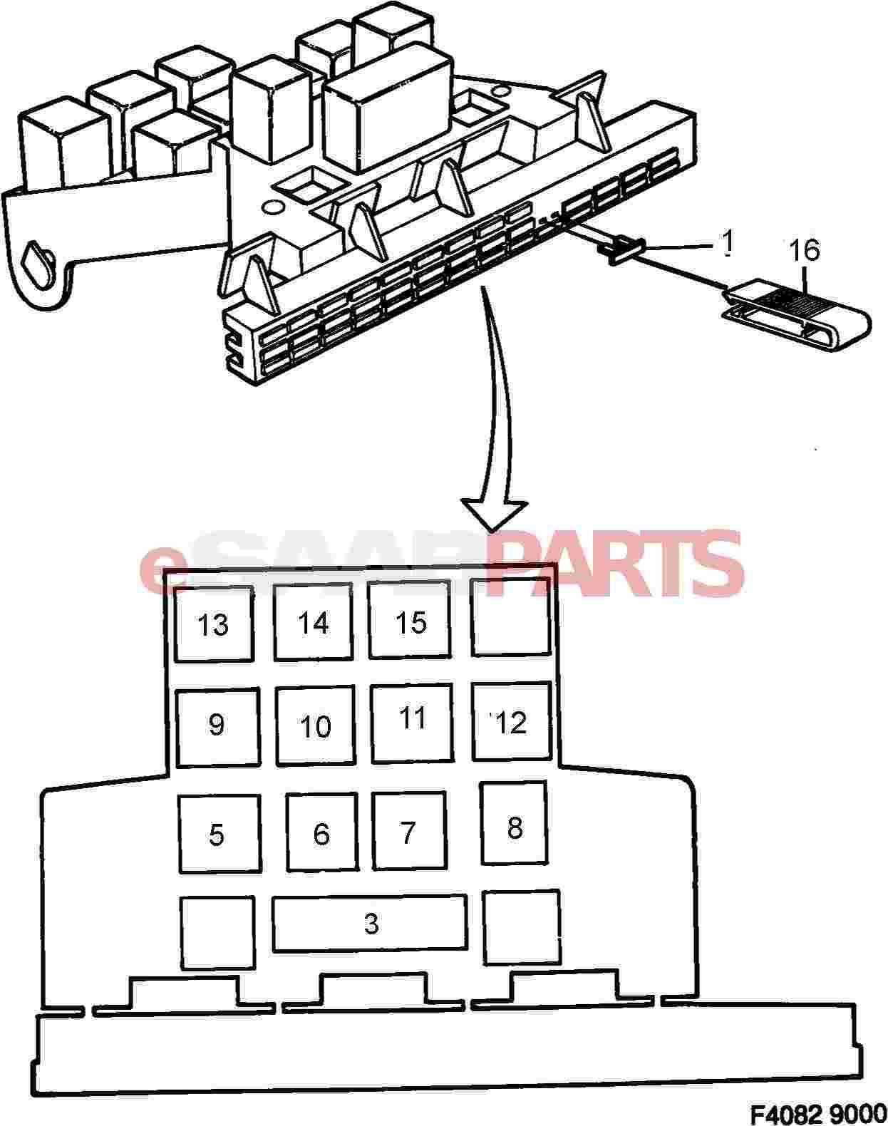 2004 saab 9 3 turbo fuse box diagram