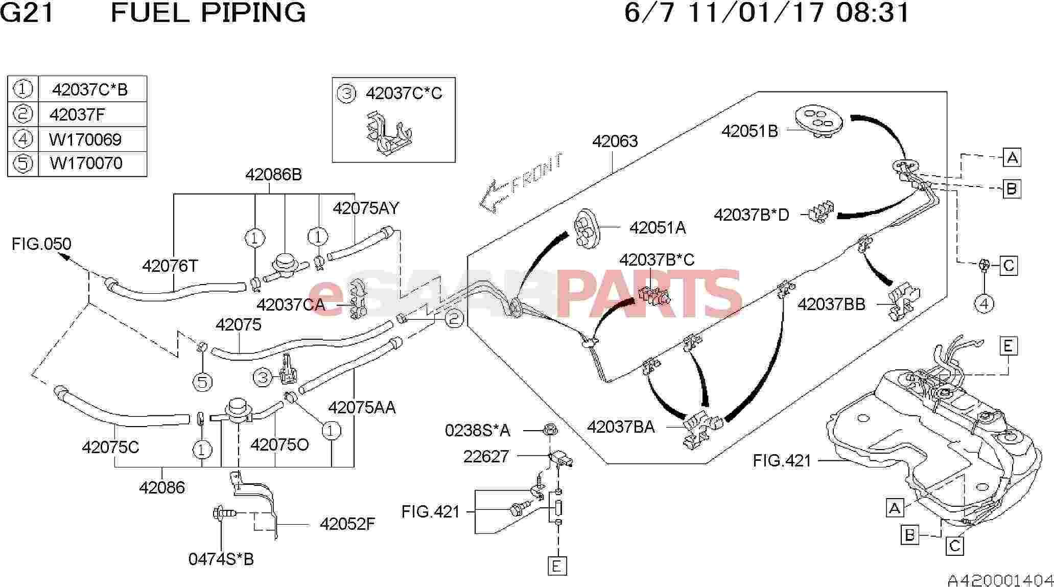 Saab Clip Hose D105