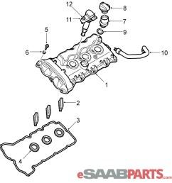 esaabparts com saab 9 3 9440 engine parts valve cover valve cover 2 8l b284 [ 1862 x 1931 Pixel ]
