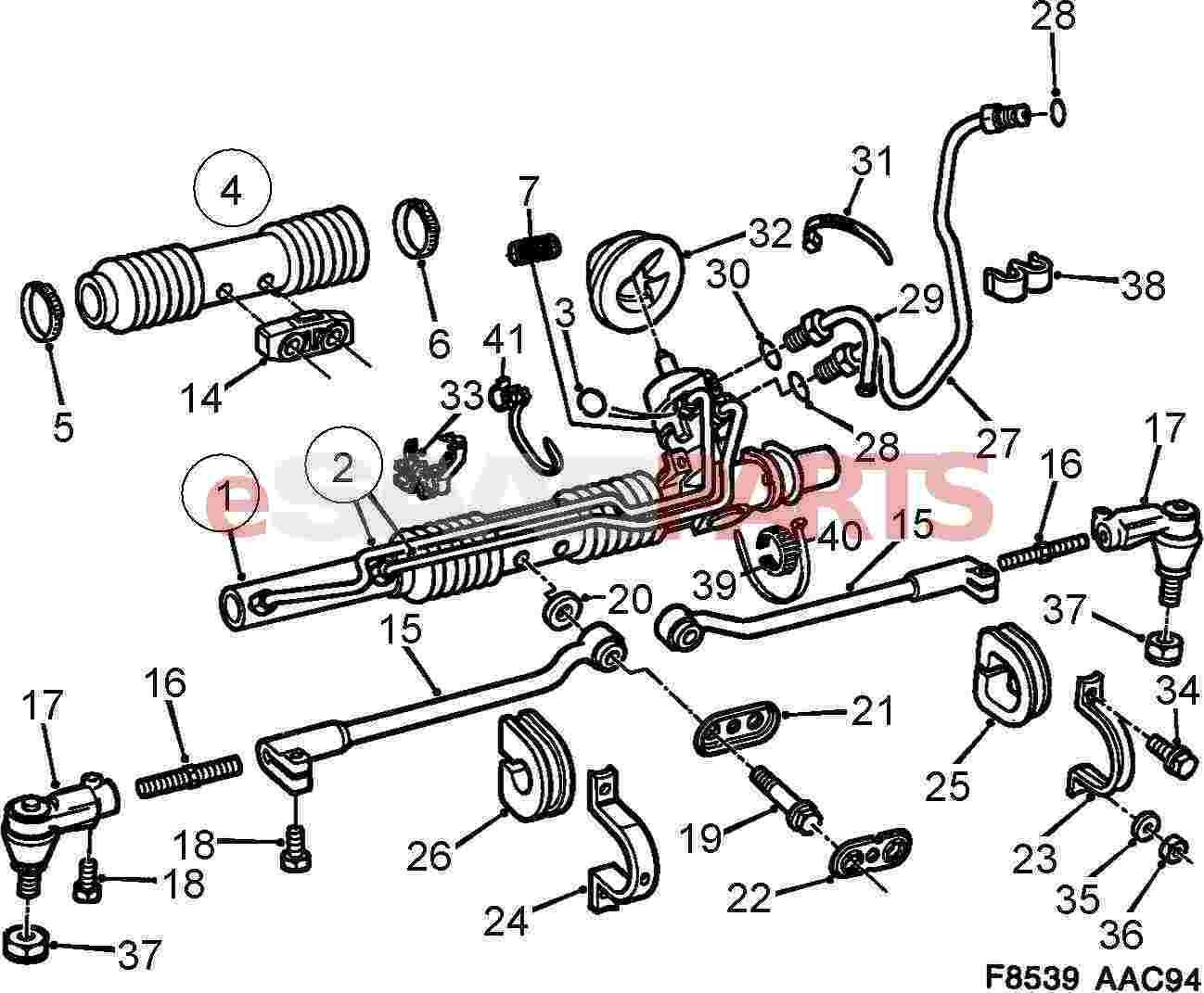 Saab 900 Front Suspension Diagram. Saab. Auto Parts