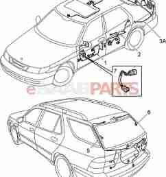 esaabparts com saab 9 5 9600 electrical parts wiring [ 1255 x 1597 Pixel ]