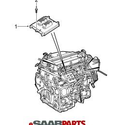 esaabparts com saab 9 3 9440 electrical parts ecm tcm engine control module ecm  [ 1418 x 1617 Pixel ]