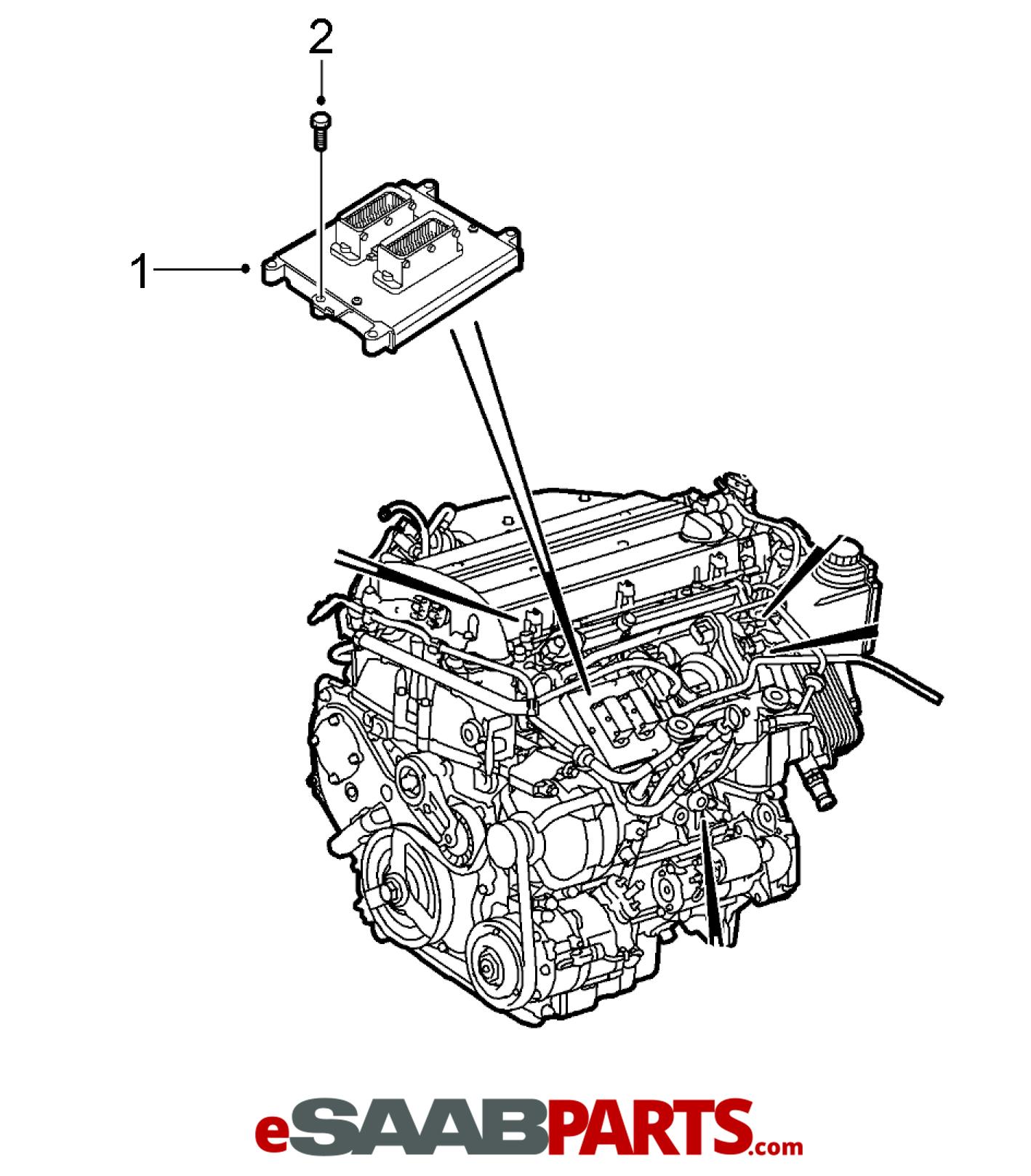 hight resolution of esaabparts com saab 9 3 9440 electrical parts ecm tcm engine control module ecm