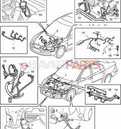 esaabparts com saab 9 3 9440 electrical parts wiring harness engine transmission motor transmission [ 1314 x 1588 Pixel ]