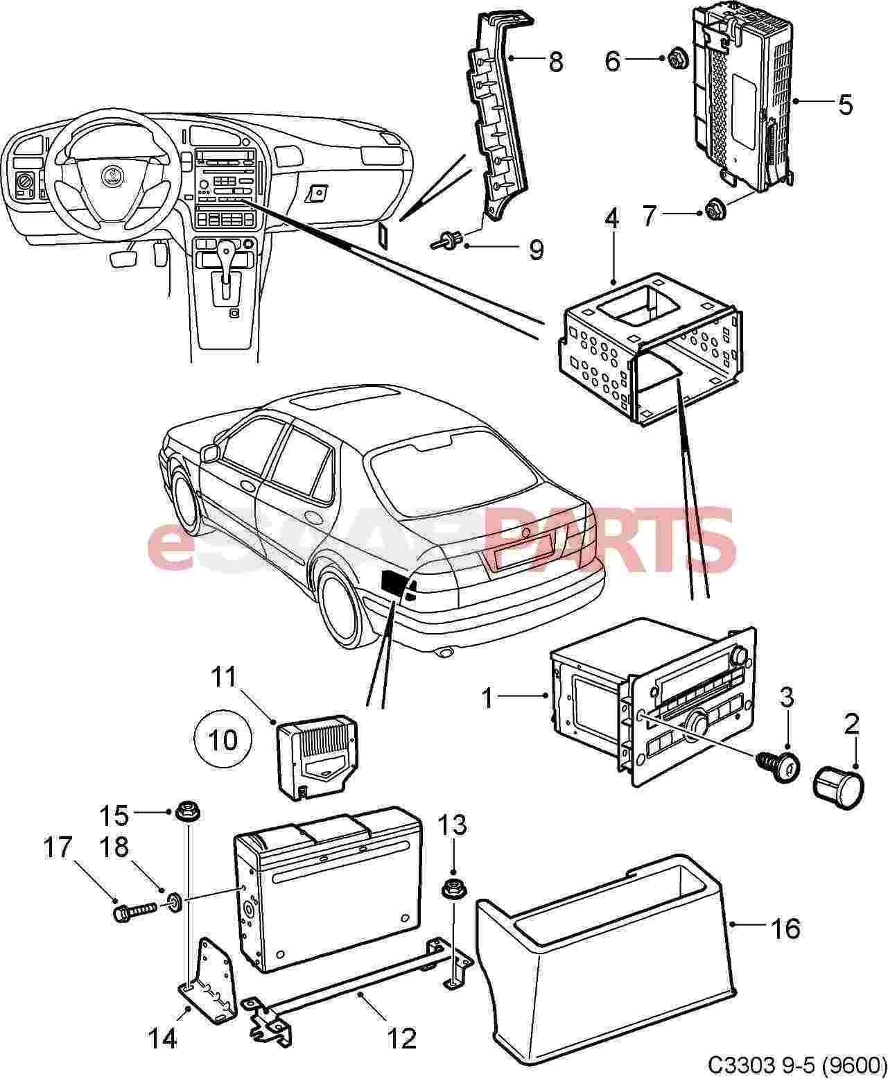Audio System Saab 9 3