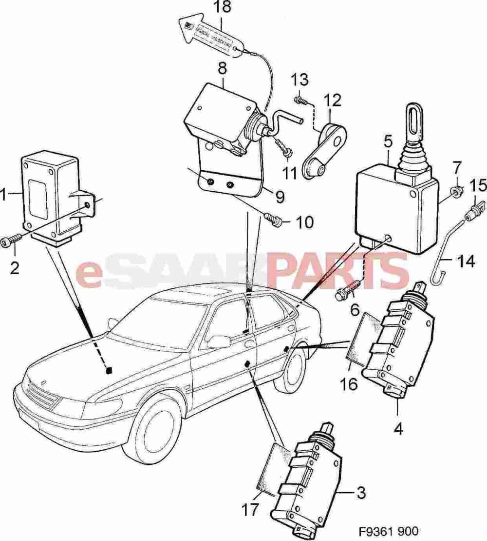 medium resolution of esaabparts com saab 900 car body external parts locks related