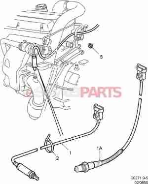 [4570917] SAAB Rear Heated Oxygen Sensor  Genuine Saab Parts from eSaabParts