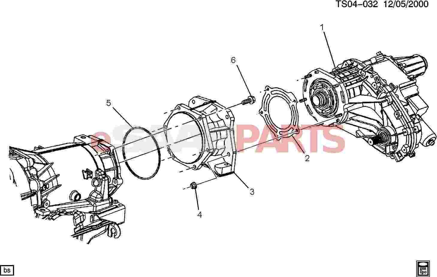 Saab Adapter Trfer Case