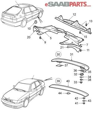 [5084835] SAAB Air Shield  Genuine Saab Parts from eSaabParts