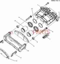 esaabparts com saab 9 7x u003e brakes parts u003e front brakes u003e brake diagram of caliper parts [ 1478 x 1342 Pixel ]