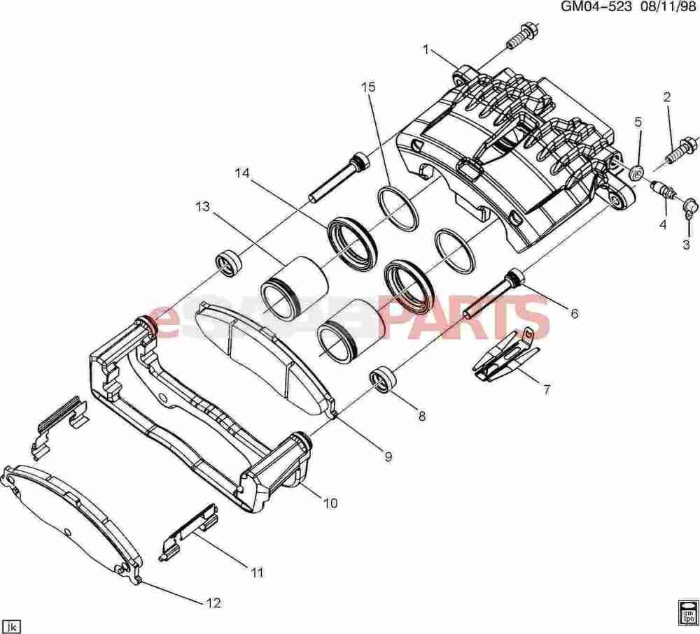 medium resolution of esaabparts com saab 9 7x u003e brakes parts u003e front brakes u003e brake diagram of caliper parts