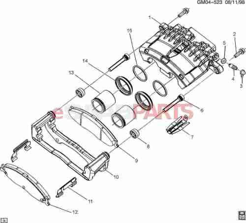 small resolution of esaabparts com saab 9 7x u003e brakes parts u003e front brakes u003e brake diagram of caliper parts