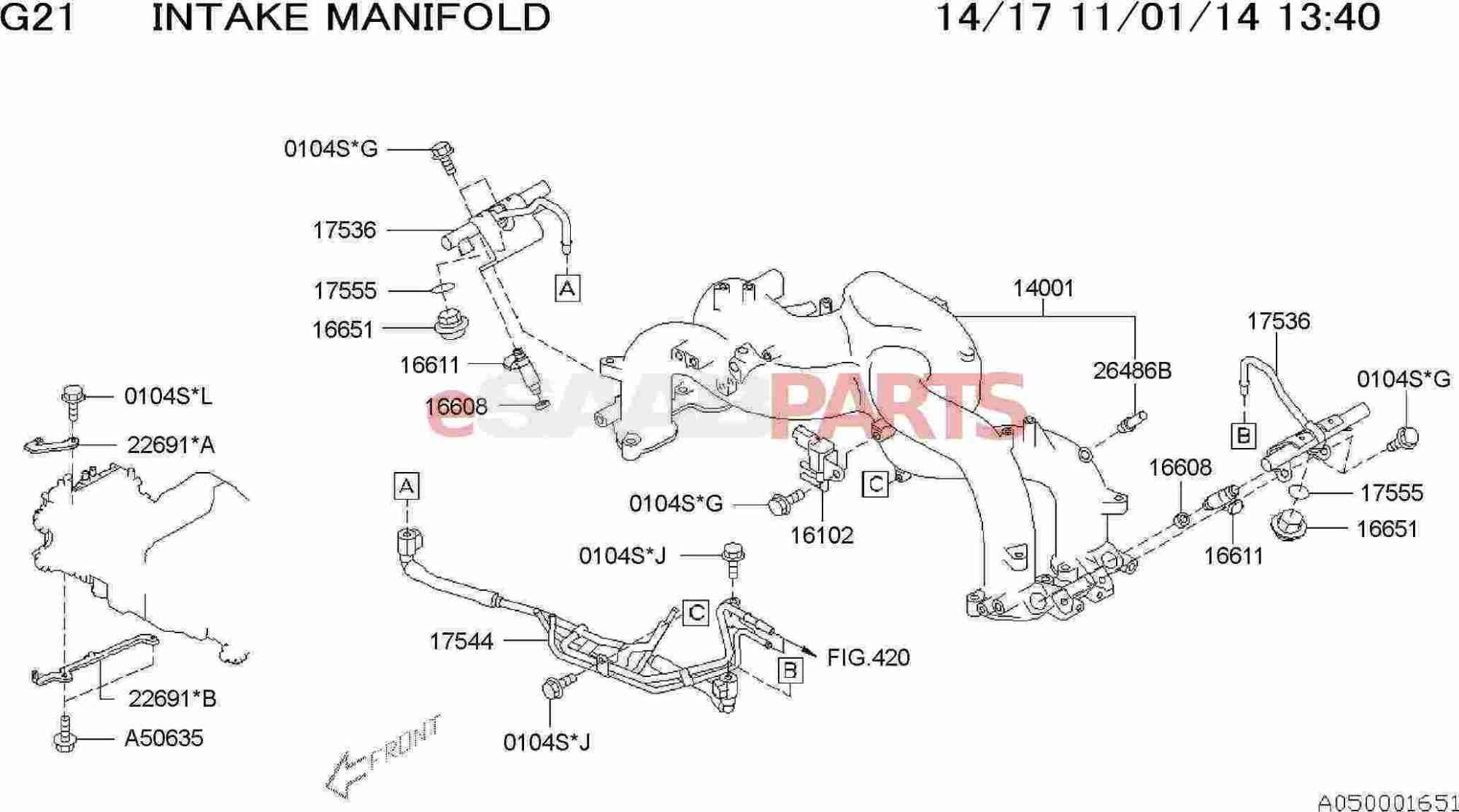 hight resolution of esaabparts com saab 9 2x engine parts engine internal intake manifold intake manihold body fuel