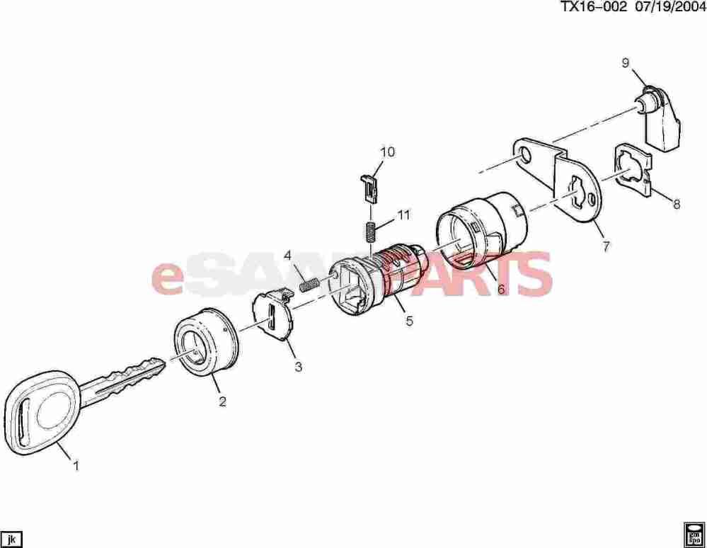 medium resolution of  lock cylinder side door