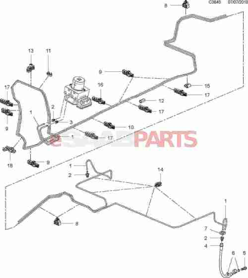 small resolution of 93178453 saab brake line genuine saab parts from esaabparts comsaab brakes diagram 16