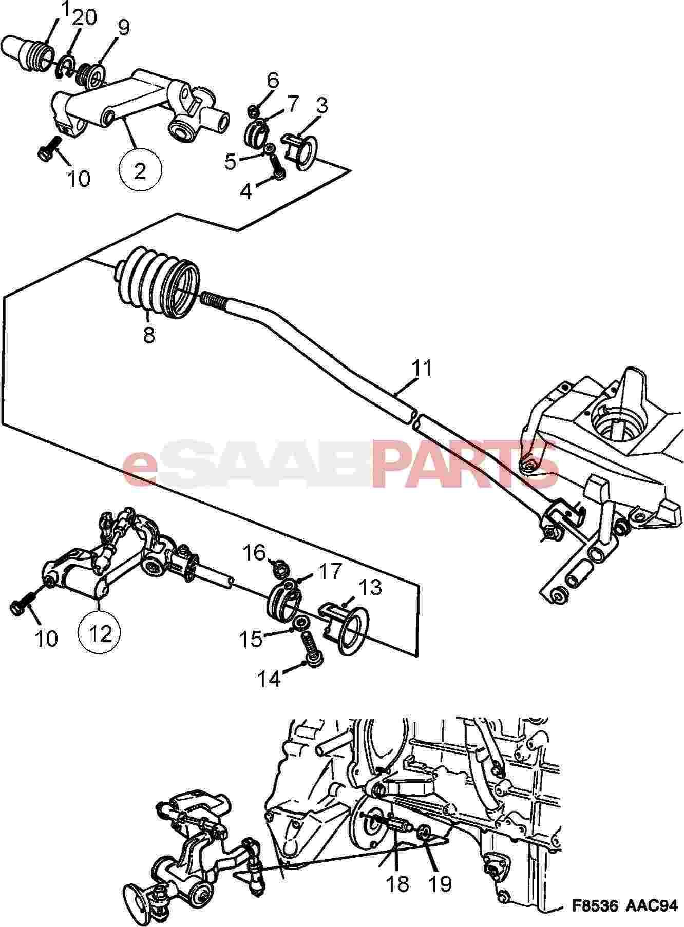 Saab Shifter Linkage