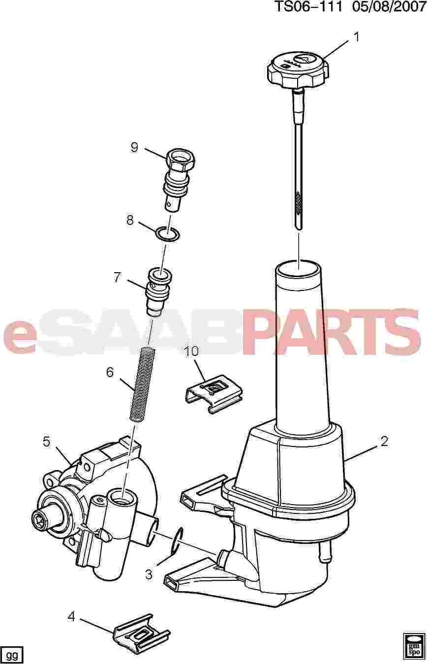 [88965510] SAAB Valve, Power Steering Pump Flow Cont