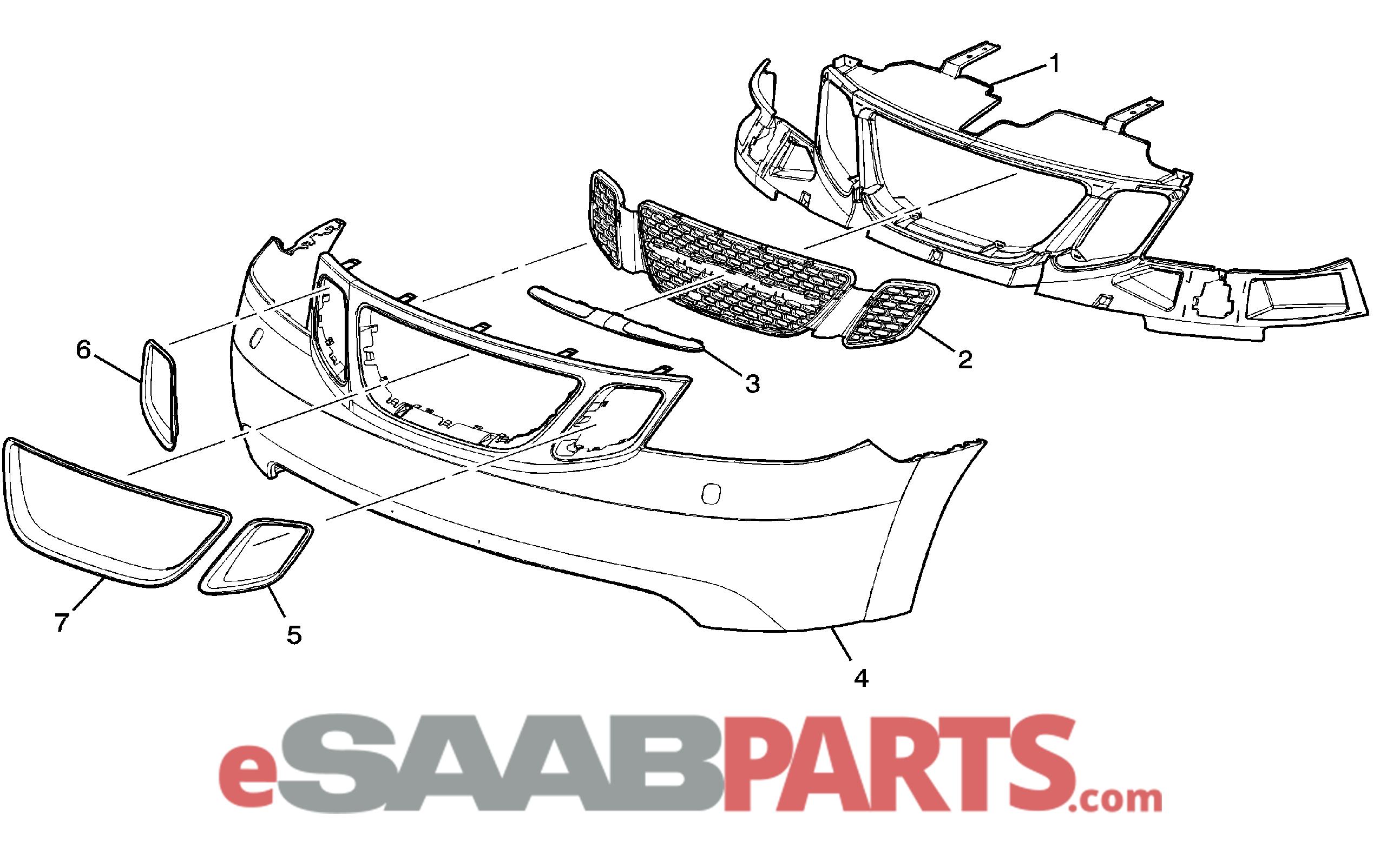 [19148958] SAAB 9-7X Front Bumper Cover (w/ Headlamp