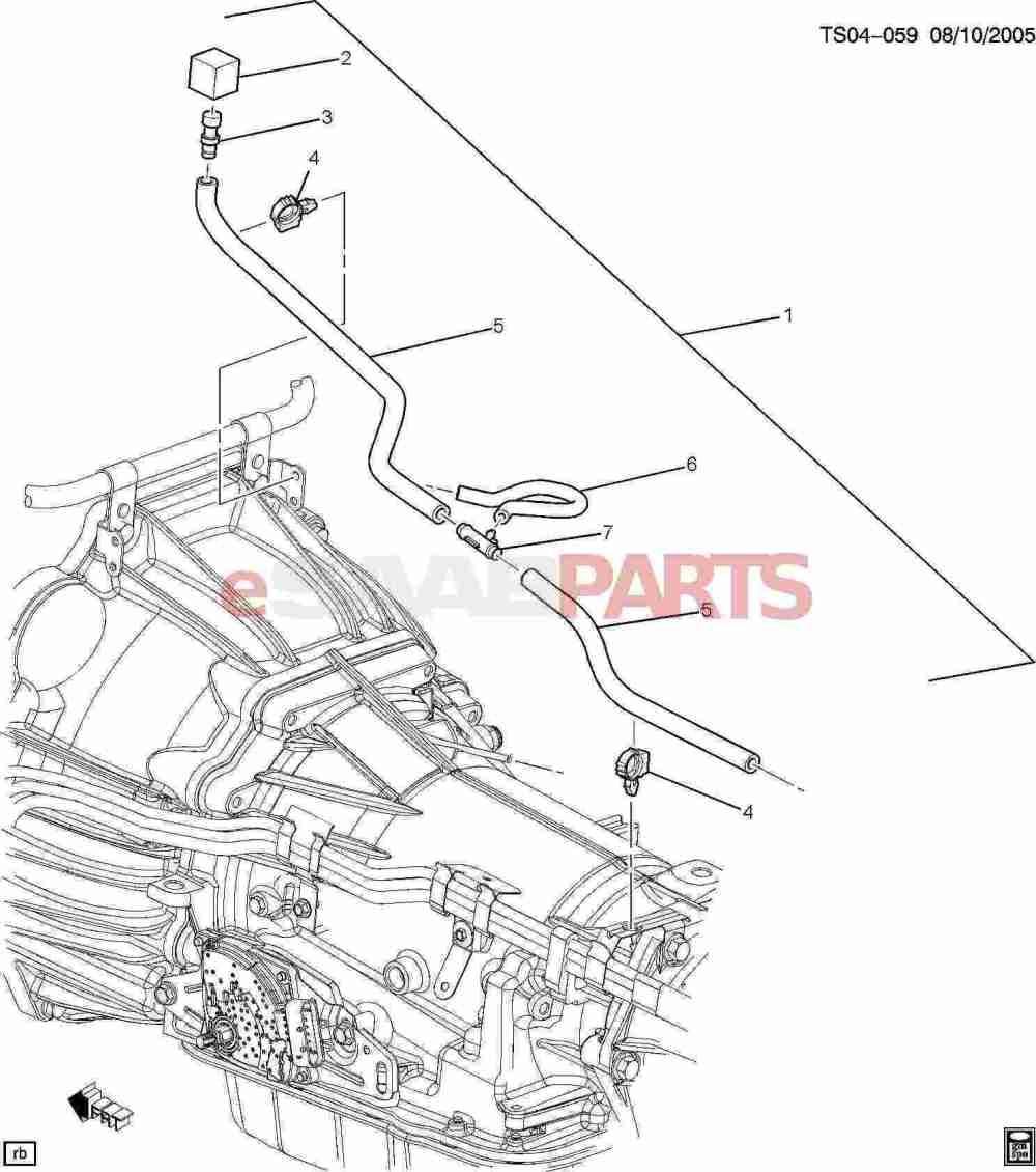 medium resolution of esaabparts com saab 9 7x transmission parts transmission automatic parts transmission vent hose