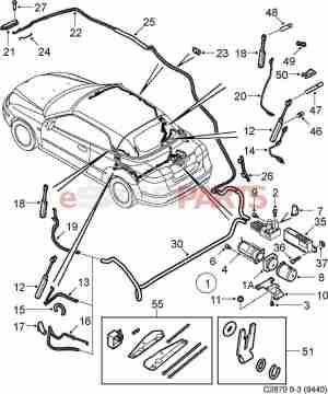 [12833515] SAAB Hydraulic Cylinder  Genuine Saab Parts