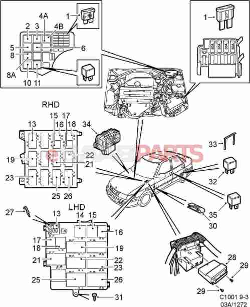 small resolution of  1999 saab 93 fuse box genuine saab parts from esaabparts com