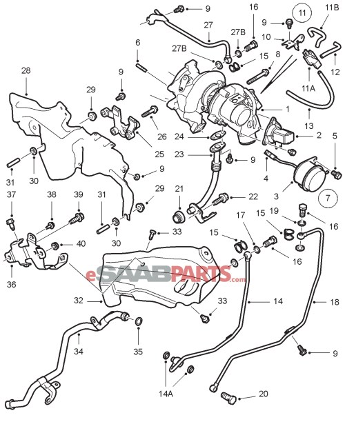 small resolution of 90490326 saab turbo stud genuine saab parts from esaabparts com rh esaabparts com 2002 saab 9 3 turbo engine diagram 2001 saab 9 3 turbo engine diagram