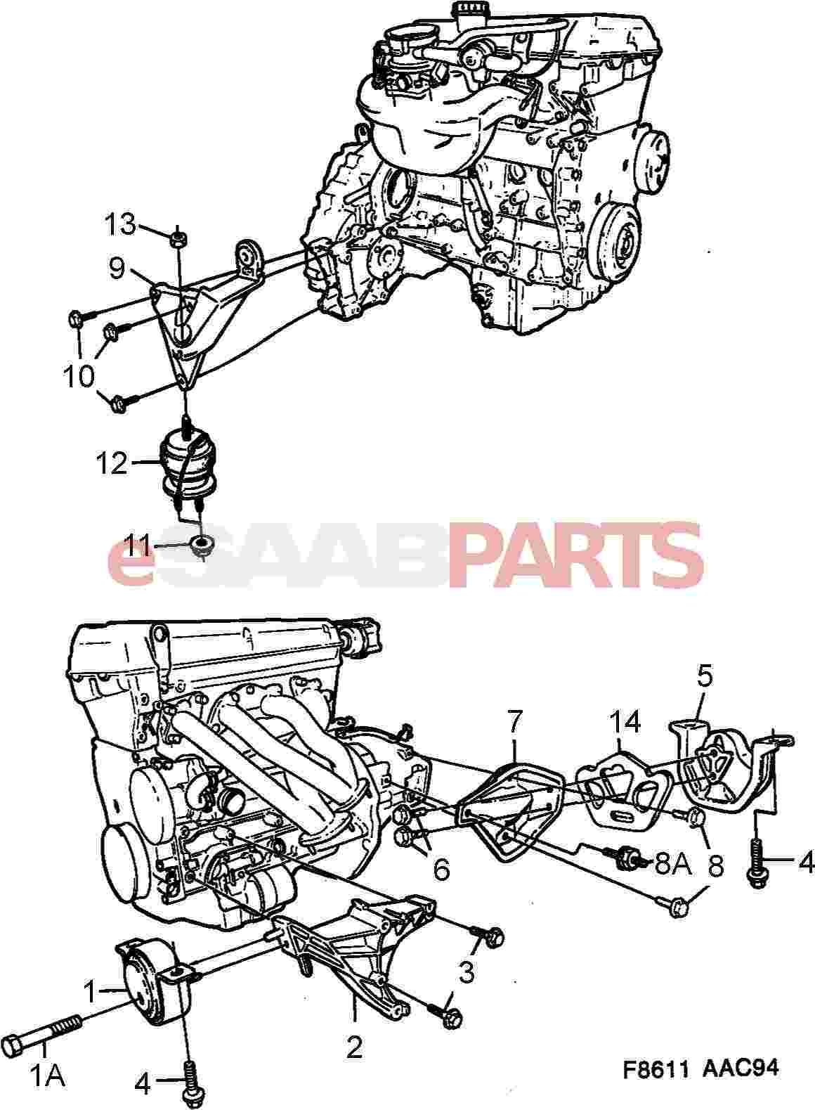 Saab Engine Mountings