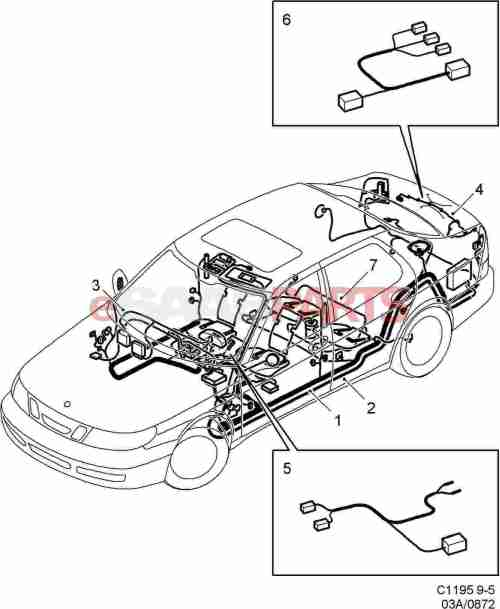 small resolution of esaabparts com saab 9 5 9600 electrical parts wiring