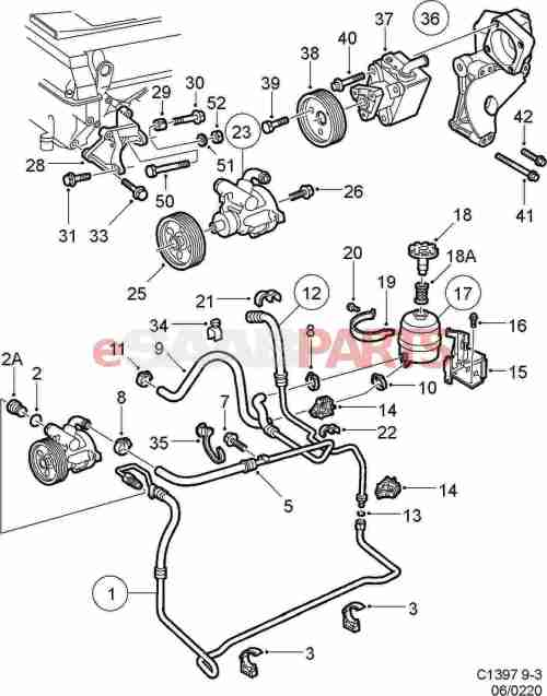small resolution of 5061841 saab pump hydraulic oil genuine saab parts fromsaab 9 3 parts diagram