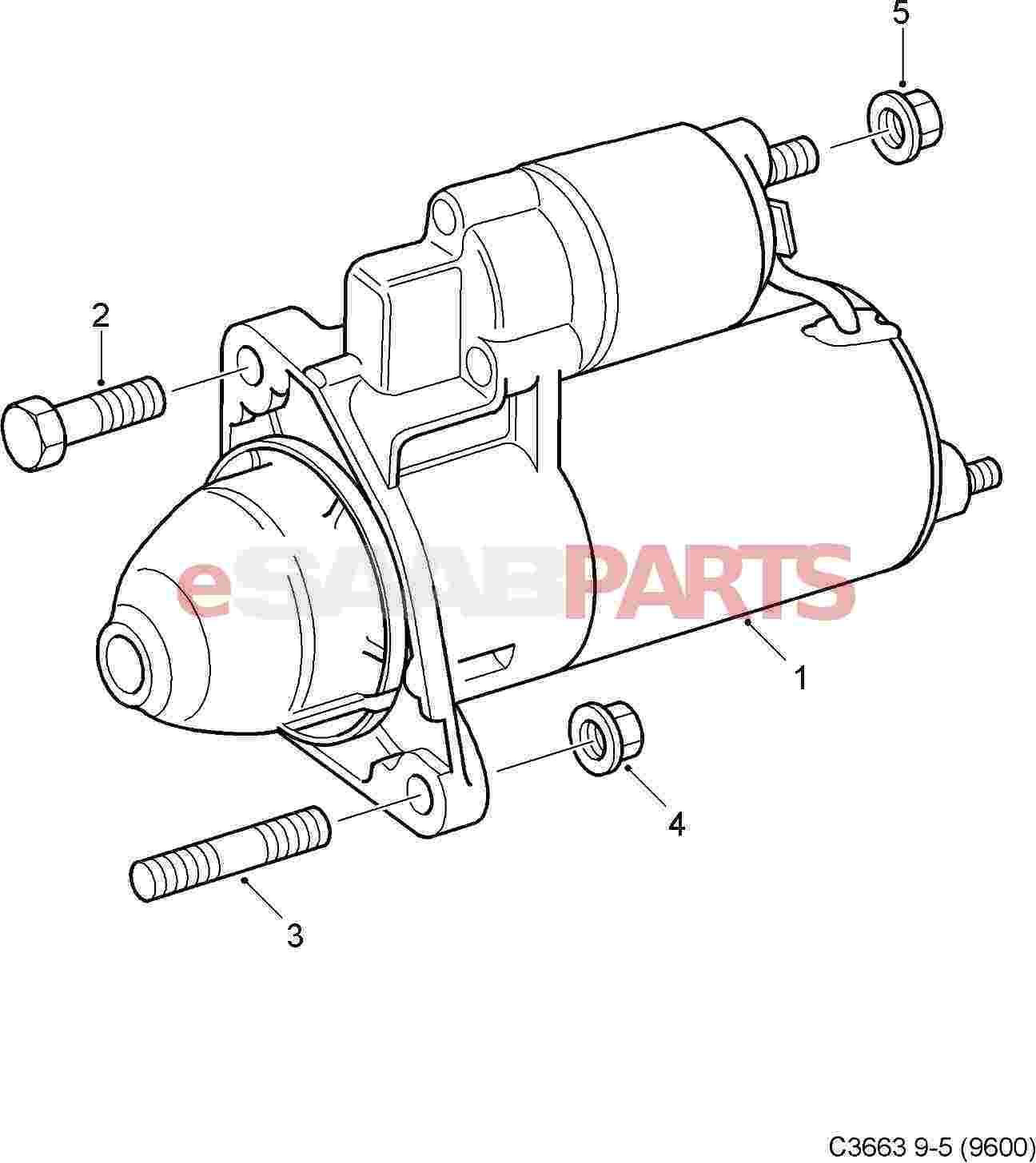 Saab Starter Motor