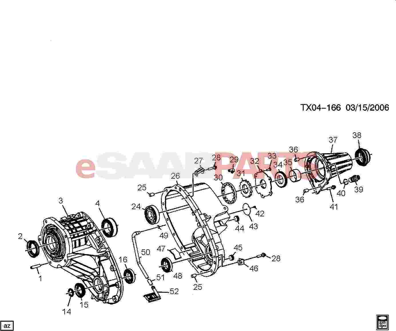 Saab Bearing Rear Output Main Shf Rr