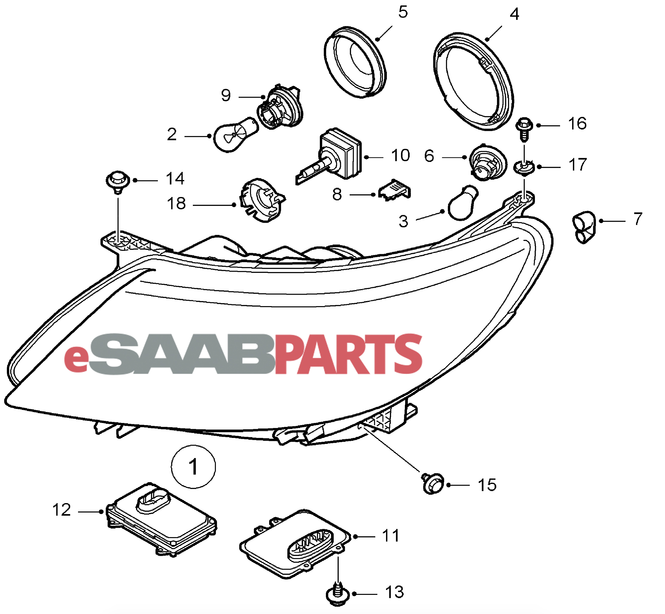 Saab 1999 9 5 Turbo Electrical System Diagram