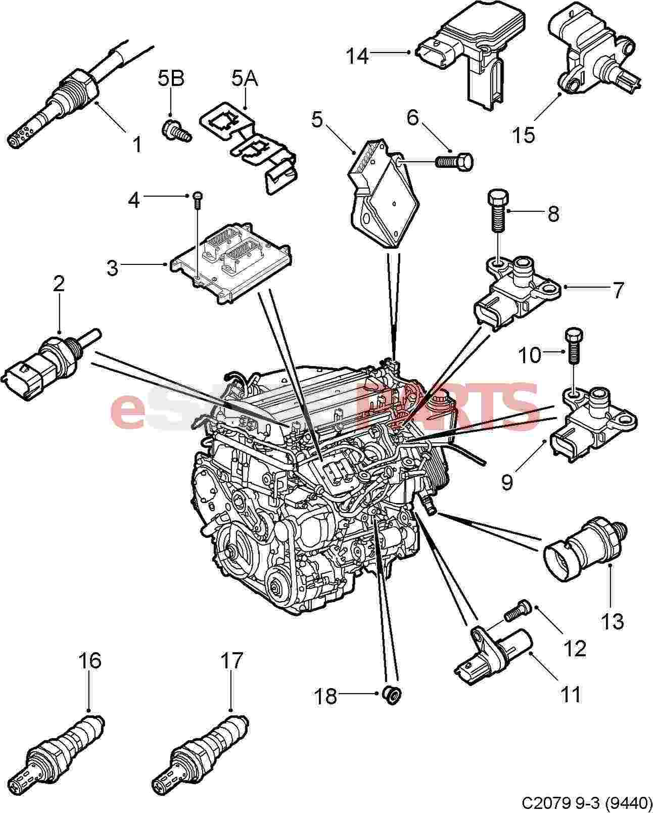 saab 9 3 engine diagram gas club car wiring convertible diagrams auto