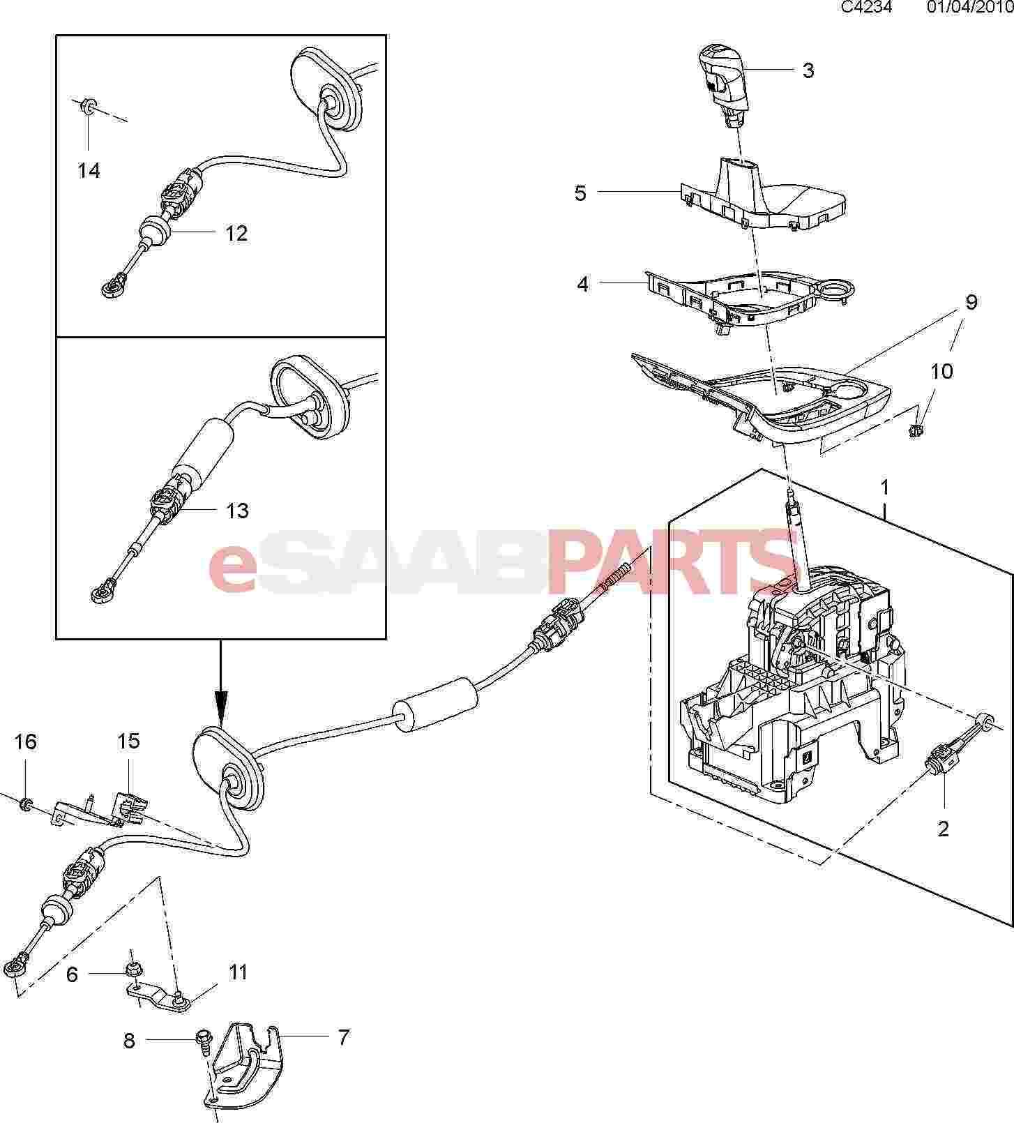 Saab Gear Shift Knob