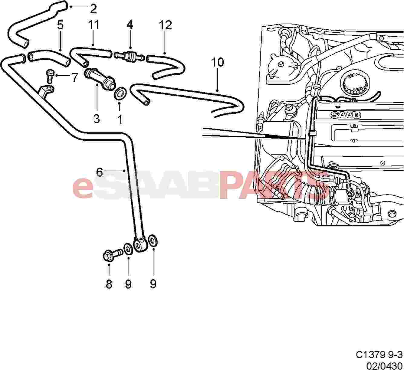 [9189564] SAAB Positive Crankcase Ventilation Valve