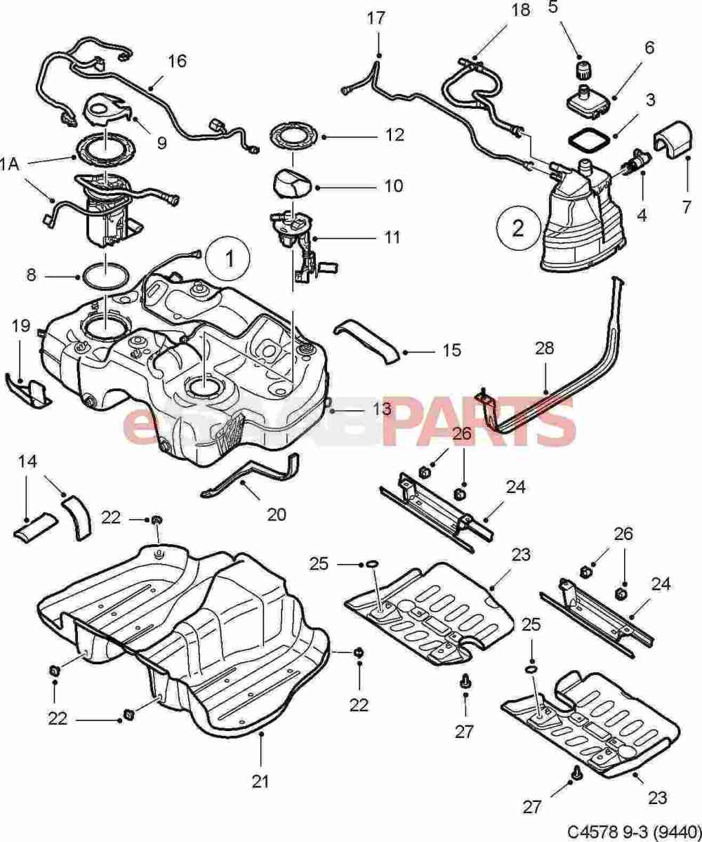 medium resolution of esaabparts com saab 9 3 9440 u003e engine parts u003e fuel tank u003e fuel saab 900 fuel pump wiring diagram saab fuel pump diagram