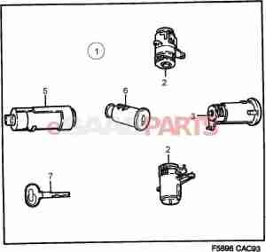 [8960221] SAAB Lock Cylinder  Genuine Saab Parts from