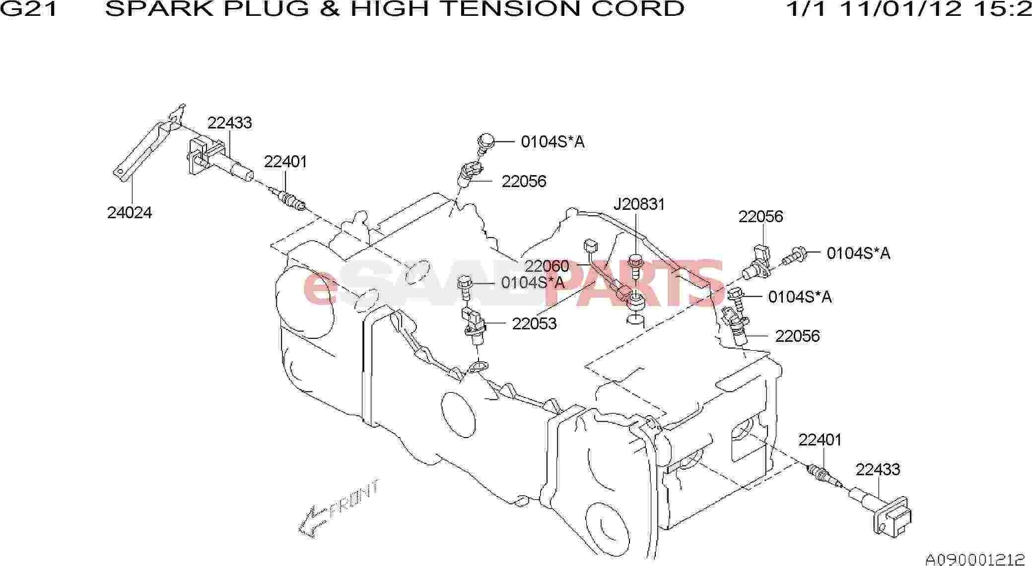 Saab Sensor Assembly Knock