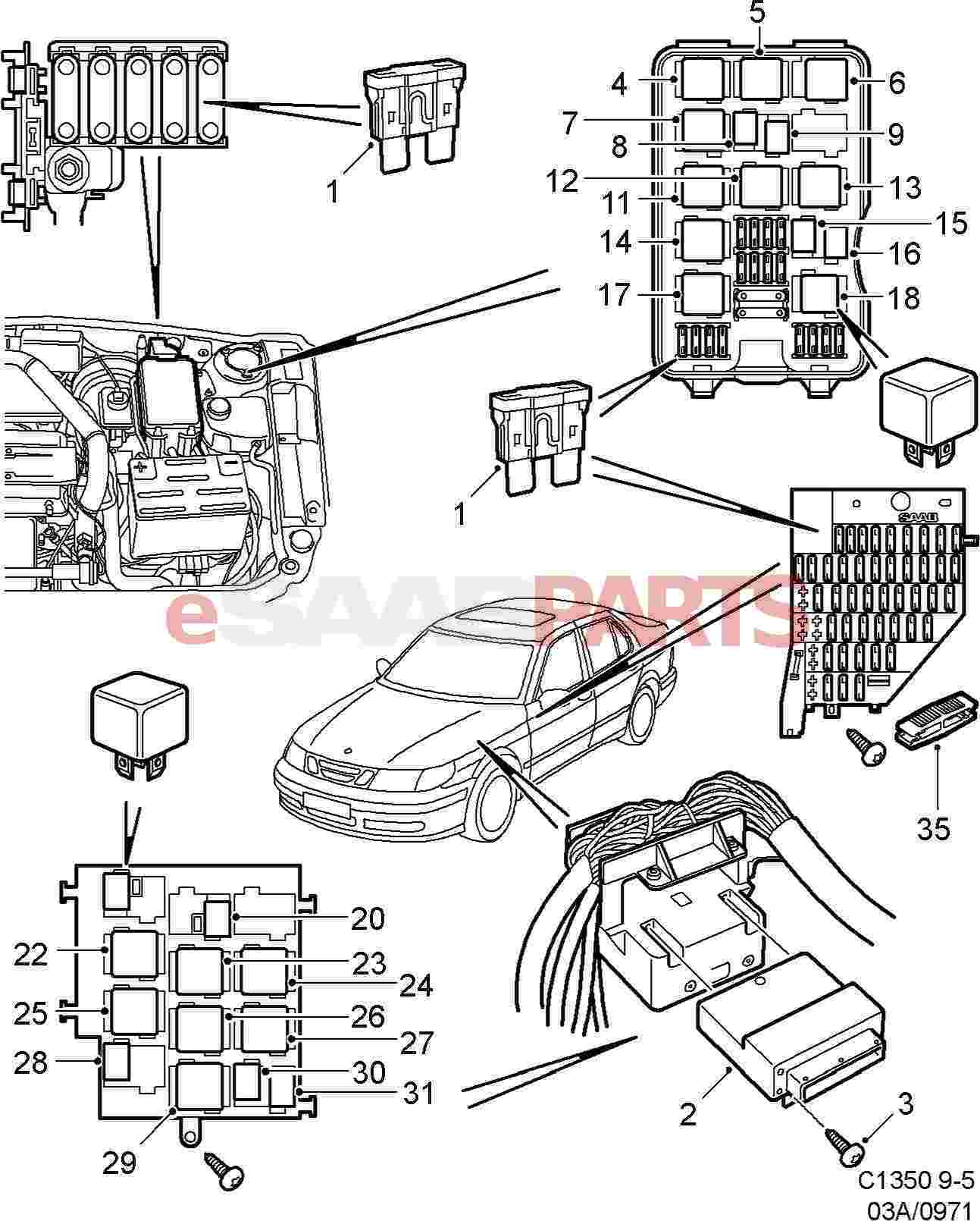 Saab Fuse Box Diagram Auto Genius 2004 9 3 Linear