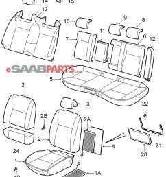 esaabparts com saab 9 3 9440 car body internal parts seat covers seat covers 2008  [ 1991 x 2306 Pixel ]