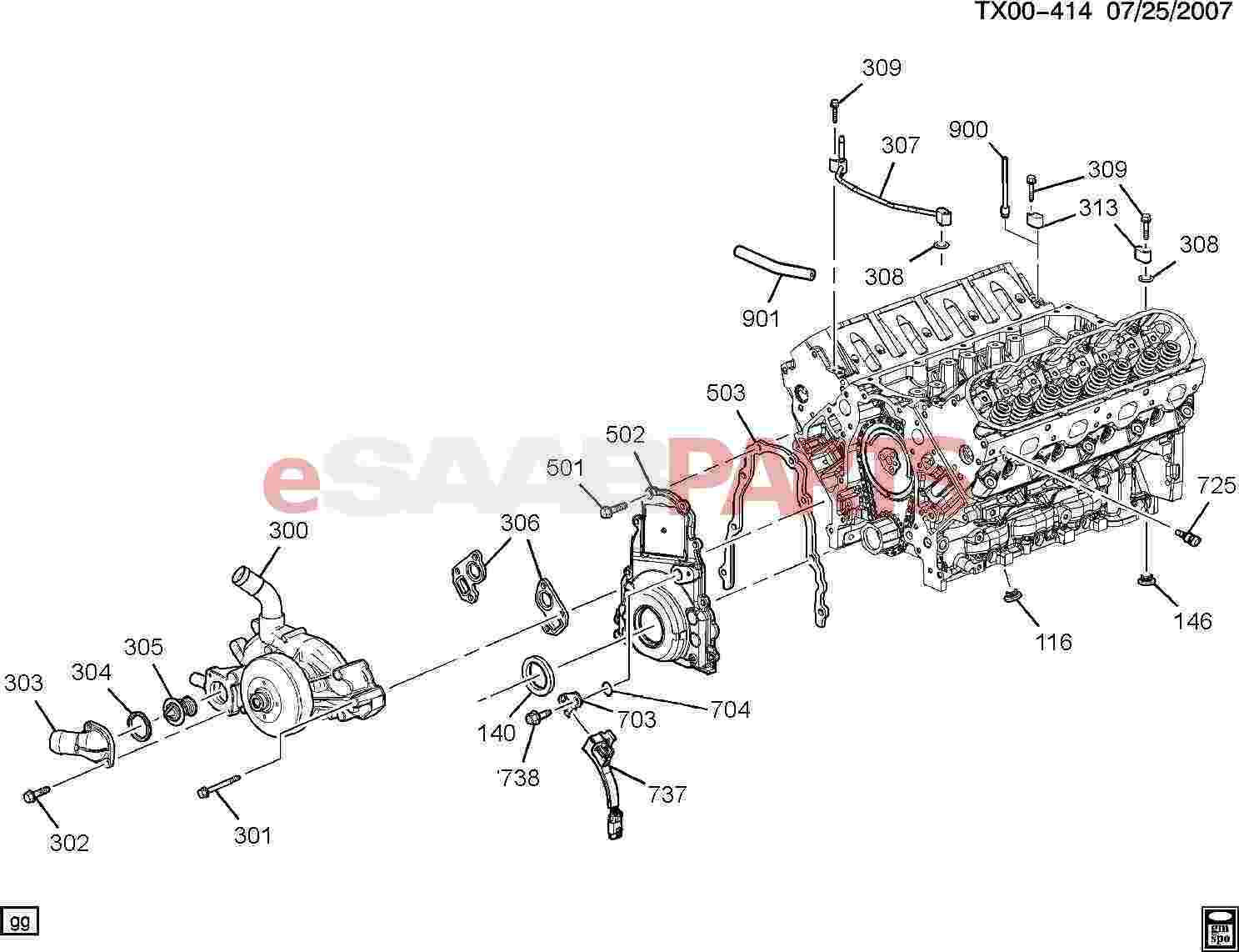 Saab 9 7x Engine Diagram