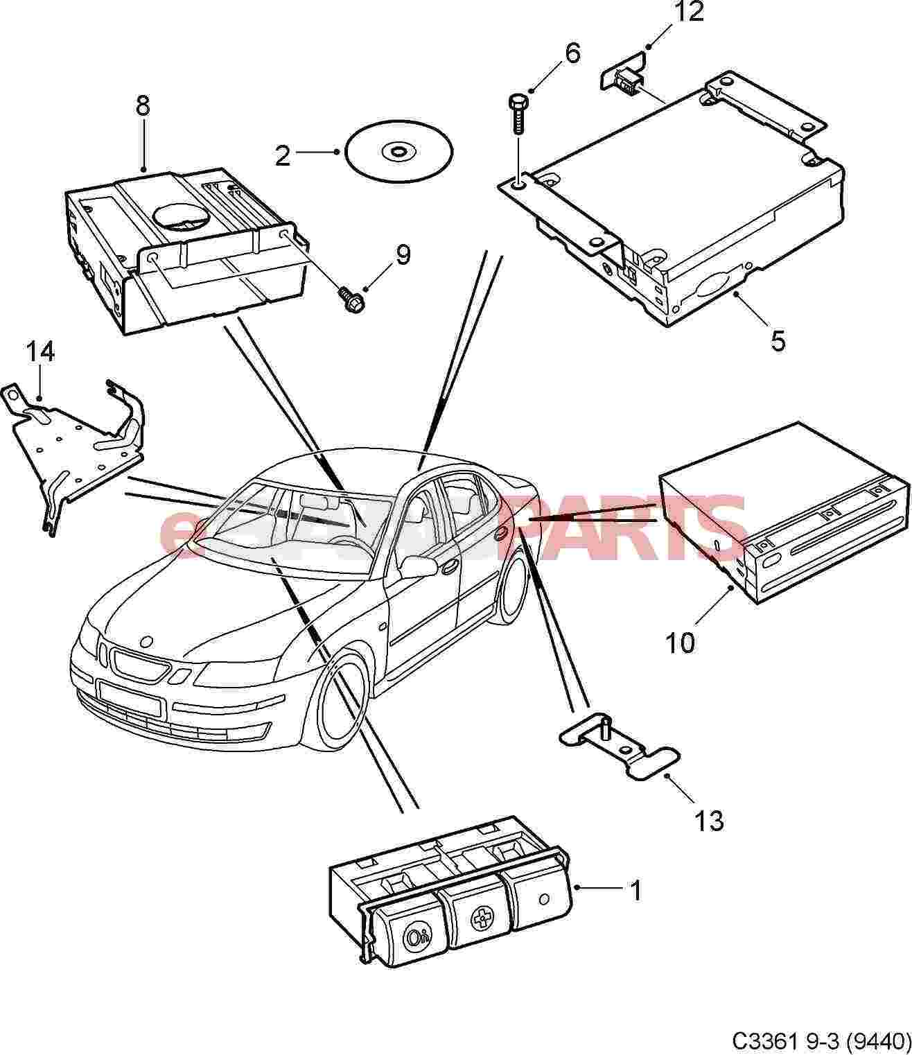[20829984] SAAB [USED] Communication Module VCIM Onstar