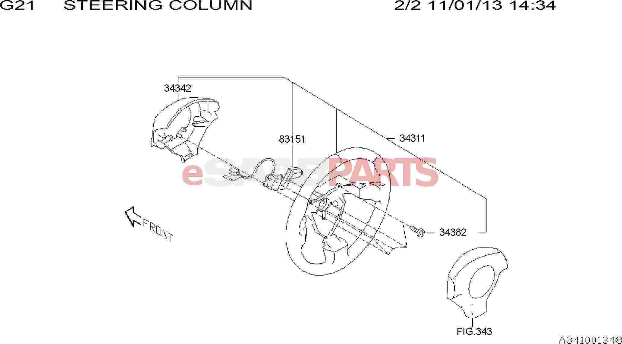 [32006843] SAAB Steering Wheel (Linear 2005-2006